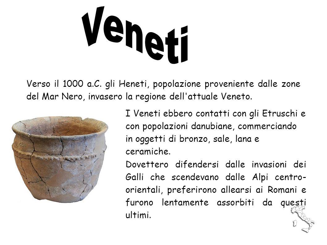 Verso il 1000 a.C. gli Heneti, popolazione proveniente dalle zone del Mar Nero, invasero la regione dell'attuale Veneto. I Veneti ebbero contatti con