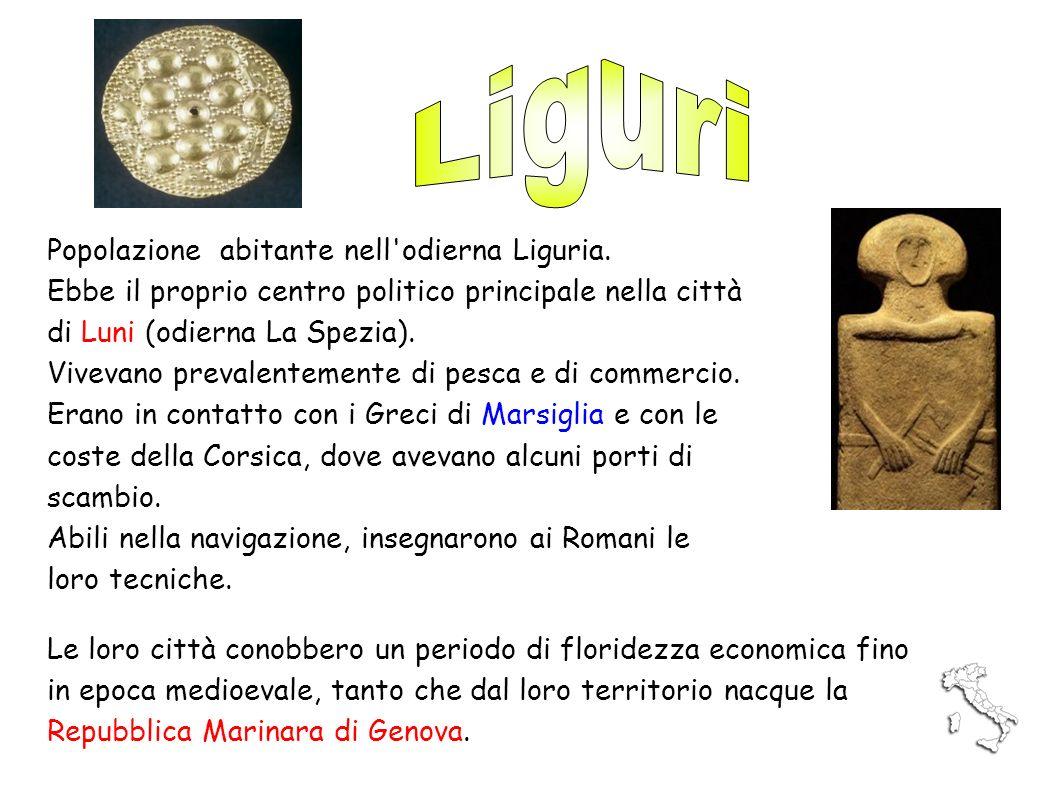 Popolazione abitante nell'odierna Liguria. Ebbe il proprio centro politico principale nella città di Luni (odierna La Spezia). Vivevano prevalentement