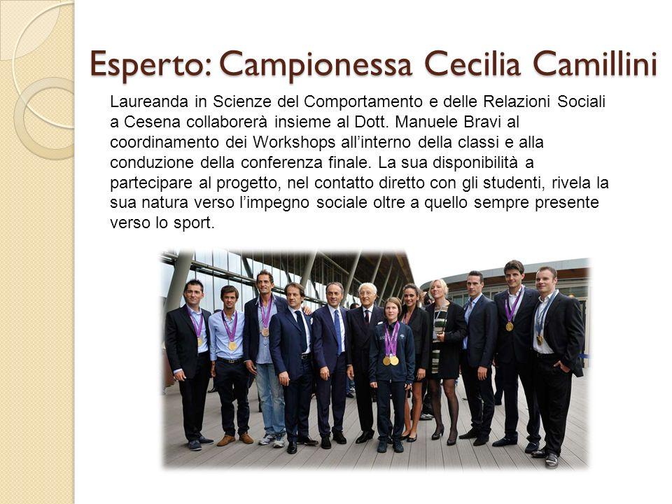 Esperto: Campionessa Cecilia Camillini Laureanda in Scienze del Comportamento e delle Relazioni Sociali a Cesena collaborerà insieme al Dott.