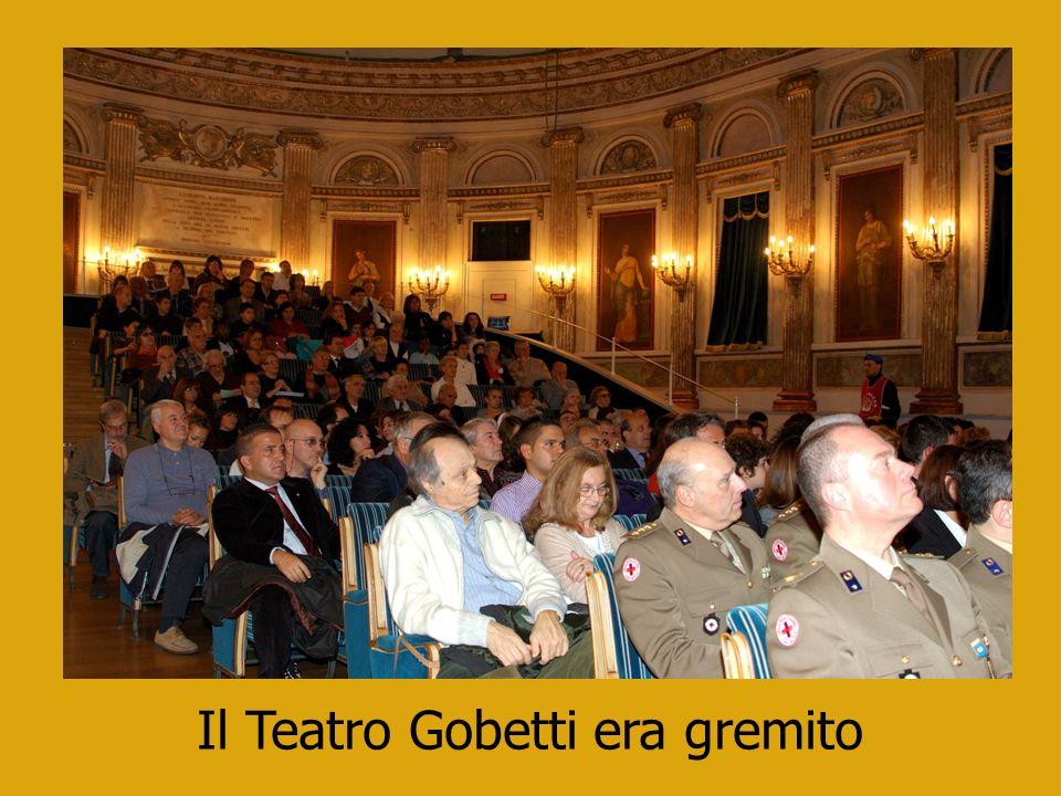Il Teatro Gobetti era gremito