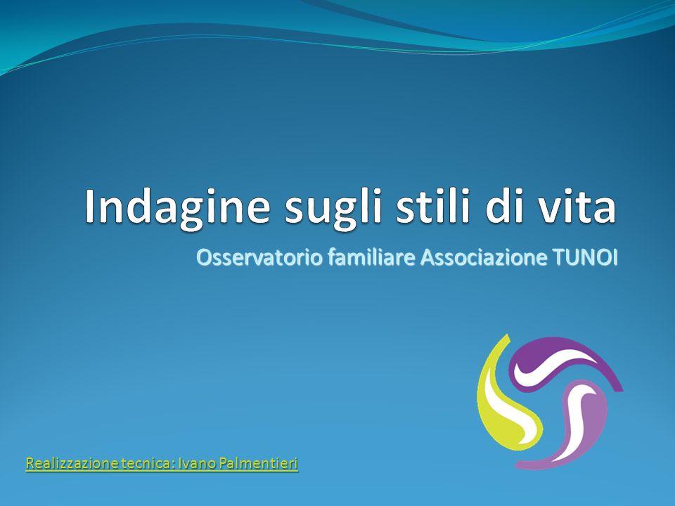 Osservatorio familiare Associazione TUNOI Realizzazione tecnica: Ivano Palmentieri Realizzazione tecnica: Ivano Palmentieri
