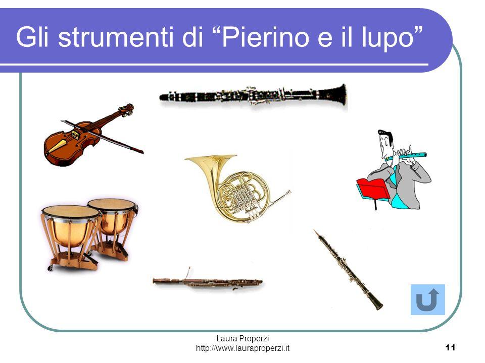 Laura Properzi http://www.lauraproperzi.it11 Gli strumenti di Pierino e il lupo