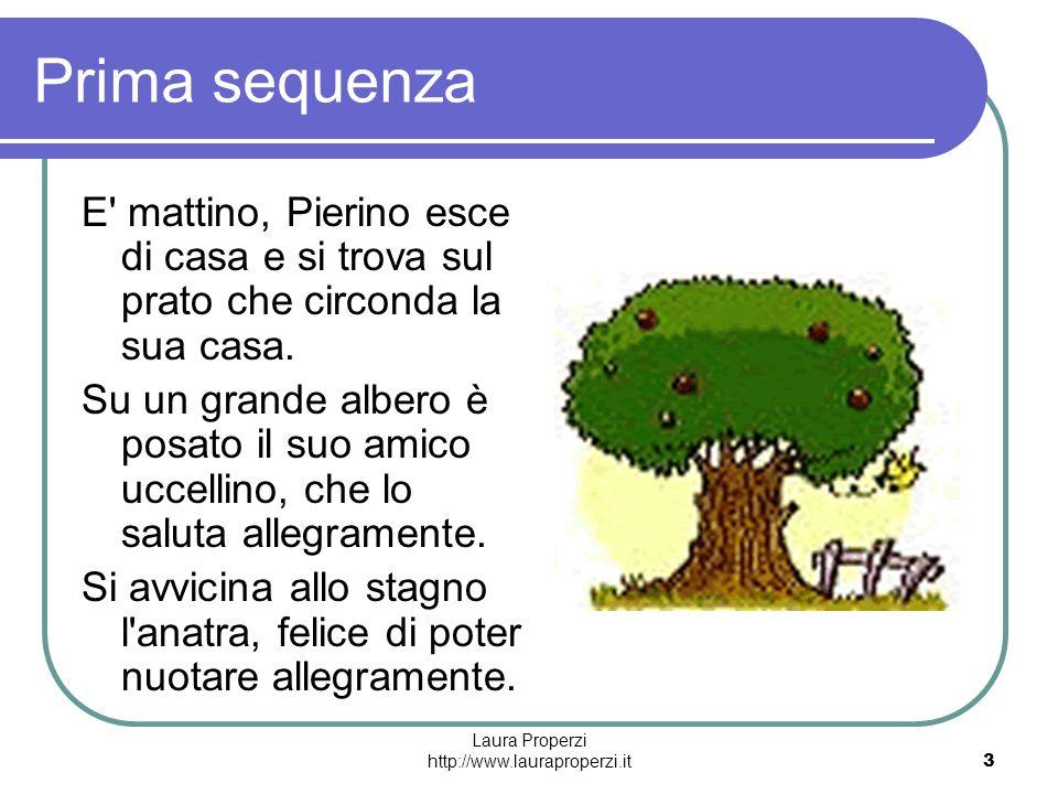 Laura Properzi http://www.lauraproperzi.it3 Prima sequenza E' mattino, Pierino esce di casa e si trova sul prato che circonda la sua casa. Su un grand