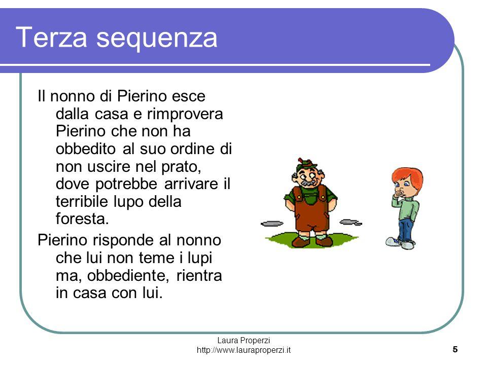 Laura Properzi http://www.lauraproperzi.it5 Terza sequenza Il nonno di Pierino esce dalla casa e rimprovera Pierino che non ha obbedito al suo ordine