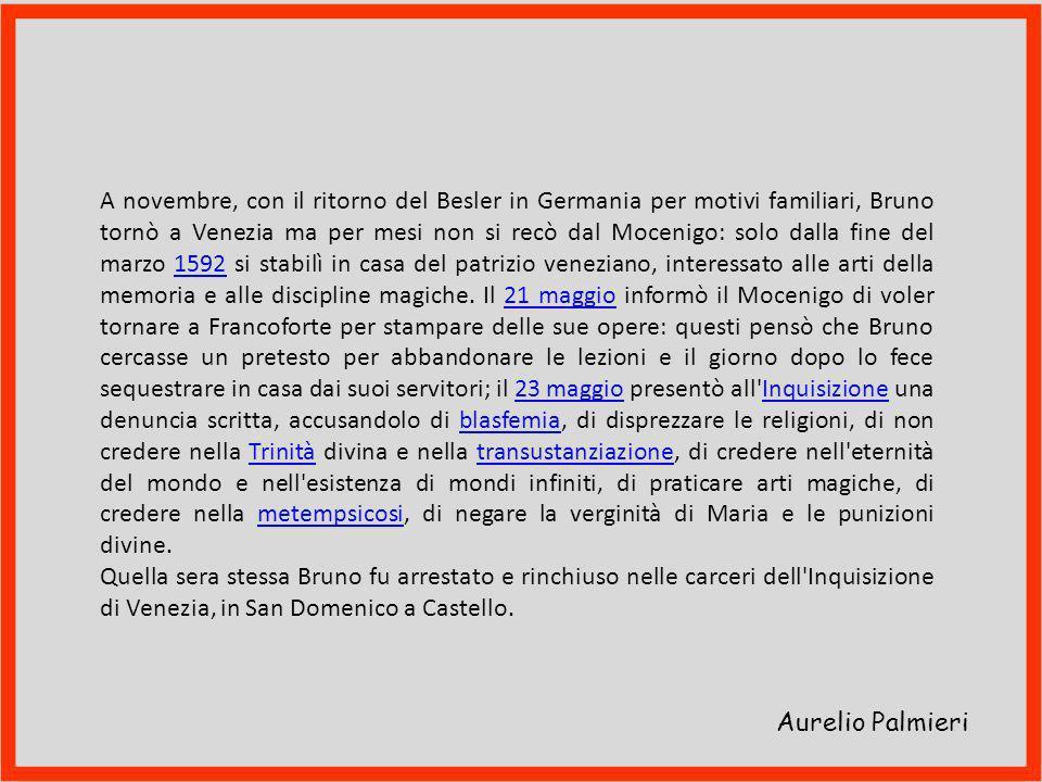 Aurelio Palmieri Simbolo dell'Inquisizione