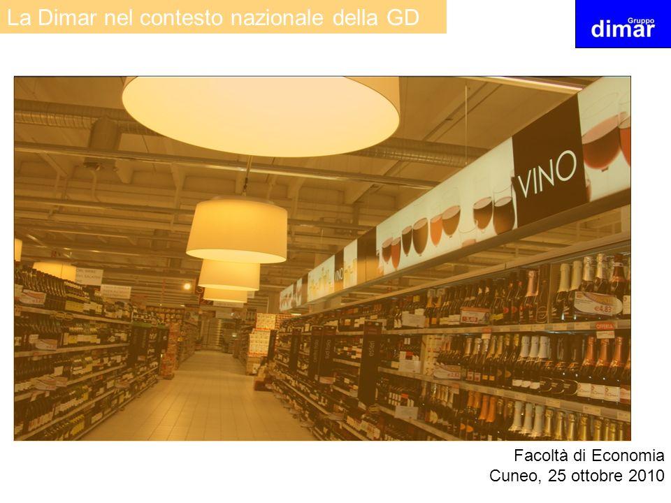 La Dimar nel contesto nazionale della GD Facoltà di Economia Cuneo, 25 ottobre 2010