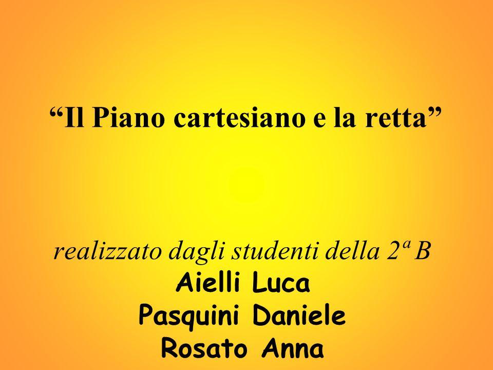 Il Piano cartesiano e la retta realizzato dagli studenti della 2ª B Aielli Luca Pasquini Daniele Rosato Anna