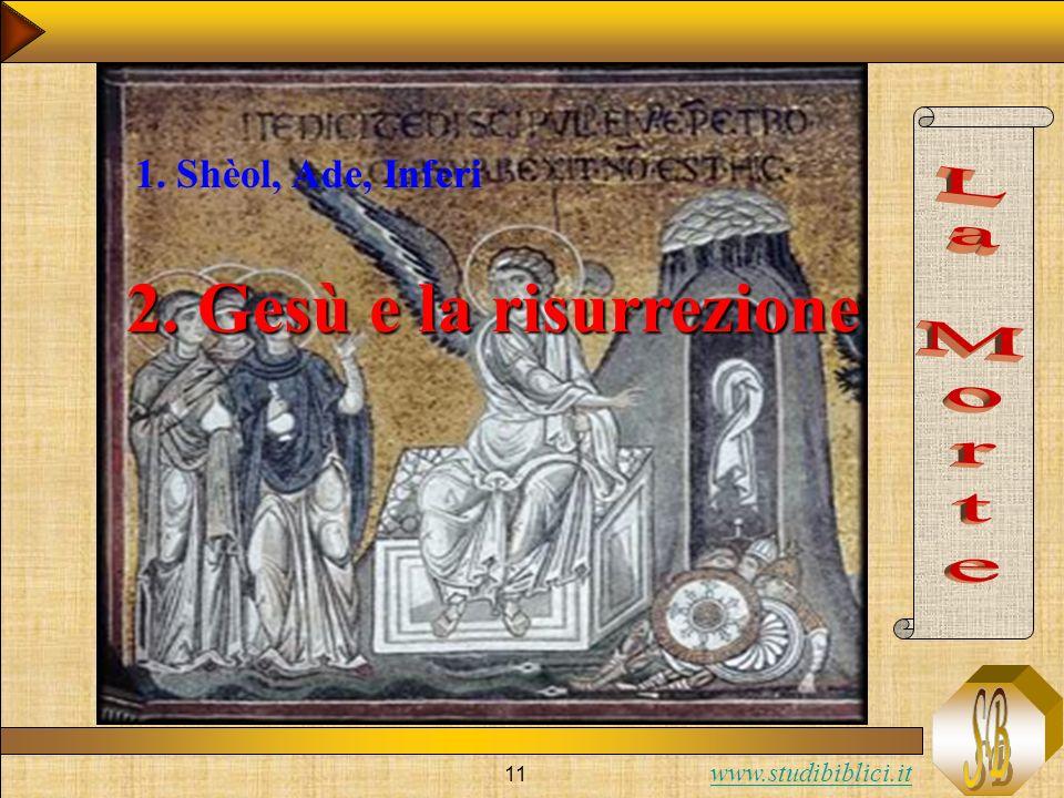 www.studibiblici.it 11 2. Gesù e la risurrezione 1. Shèol, Ade, Inferi