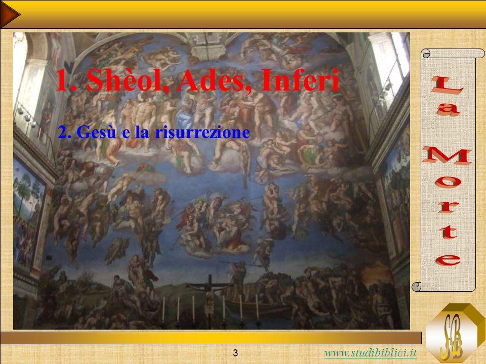 www.studibiblici.it 3 1. Shèol, Ades, Inferi 2. Gesù e la risurrezione