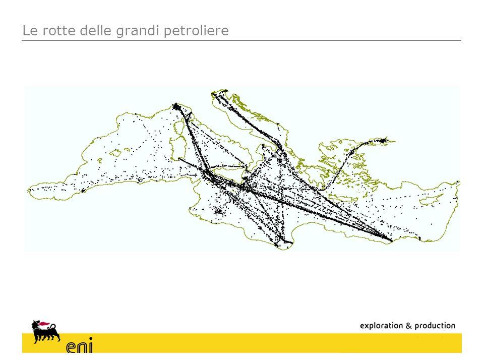 Le rotte delle grandi petroliere