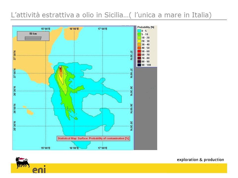Lattività estrattiva a olio in Sicilia…( lunica a mare in Italia)
