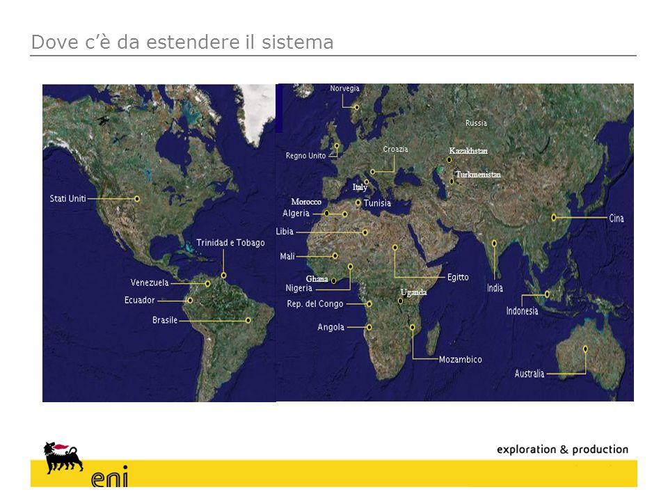 Dove cè da estendere il sistema Italy Ghana Morocco Turkmenistan Kazakhstan Uganda
