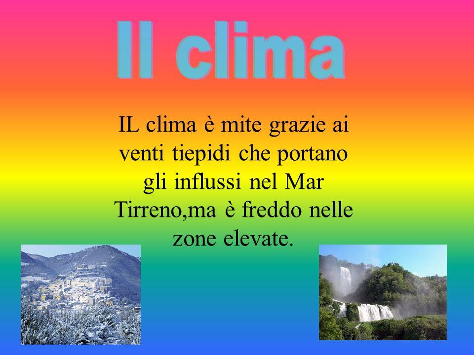 IL clima è mite grazie ai venti tiepidi che portano gli influssi nel Mar Tirreno,ma è freddo nelle zone elevate.