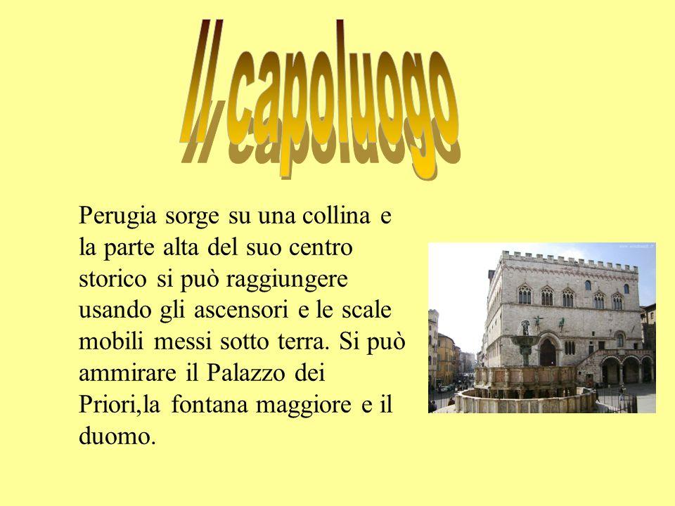 Perugia sorge su una collina e la parte alta del suo centro storico si può raggiungere usando gli ascensori e le scale mobili messi sotto terra. Si pu