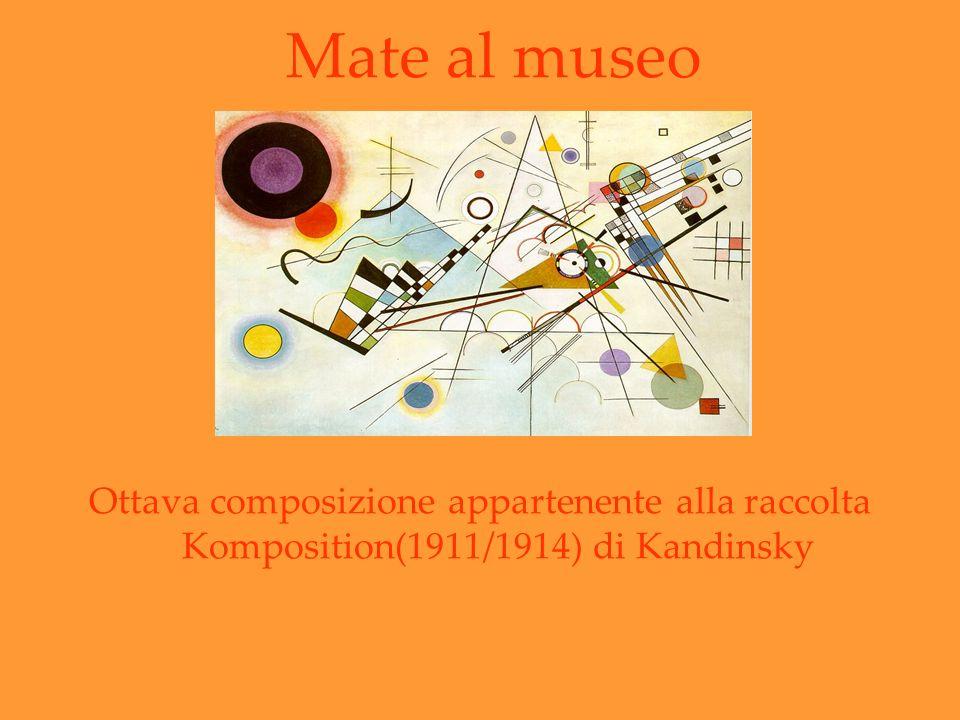 Ottava composizione appartenente alla raccolta Komposition(1911/1914) di Kandinsky Mate al museo