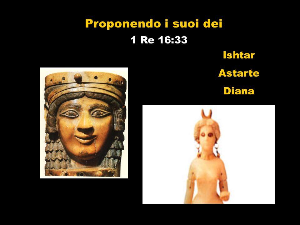 Proponendo i suoi dei 1 Re 16:33 Ishtar Astarte Diana