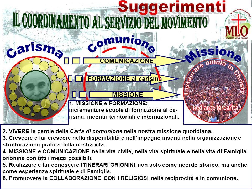 FORMAZIONE al carisma COMUNICAZIONE MISSIONE l 2.