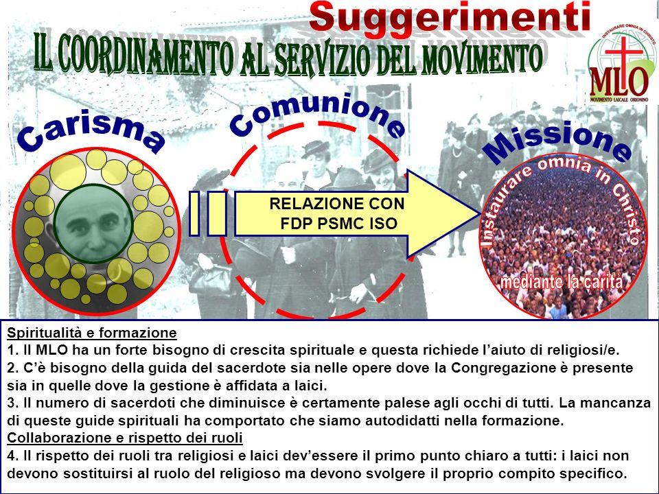 RELAZIONE CON FDP PSMC ISO Spiritualità e formazione 1.