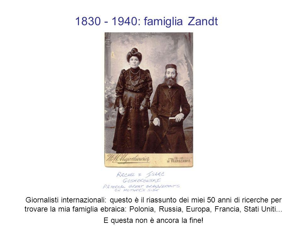 1852 Rachel Gosherowsky, mia bisnonna, madre di mia nonna Sheba, a sua volta madre di Perla (mia madre)…