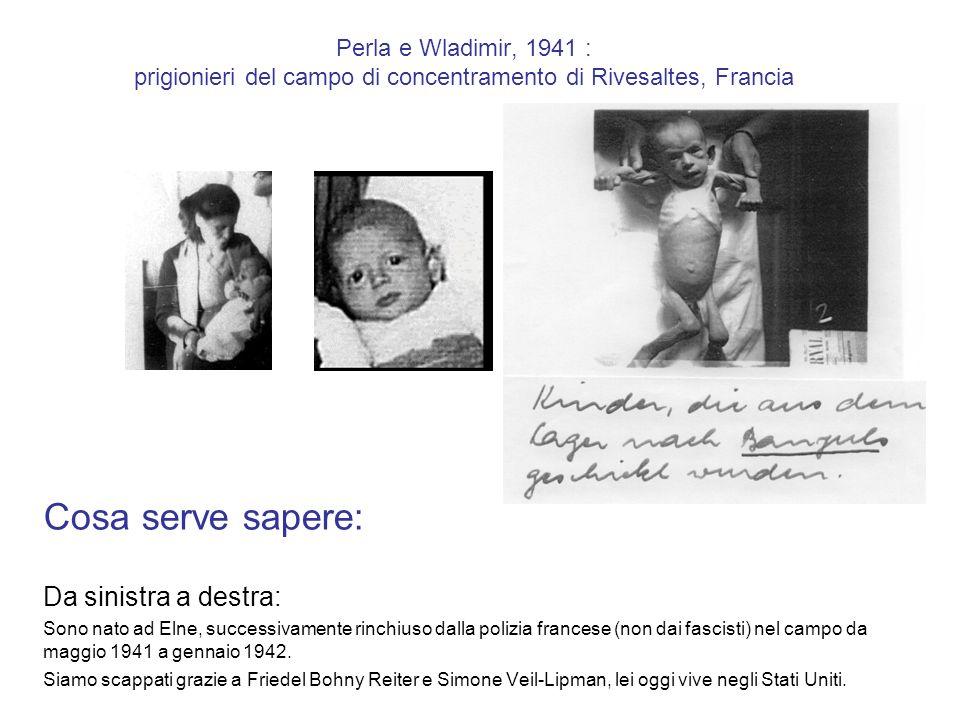Campo francese di concentramento e di deportazione di Rivesaltes, luglio 1941 Cosa serve sapere: Celia (spagnola) è viva nel 2010, lei mi ha salvato la vita, portandomi nel asilo-nido Banyuls- Rivesaltes (luglio 1941).