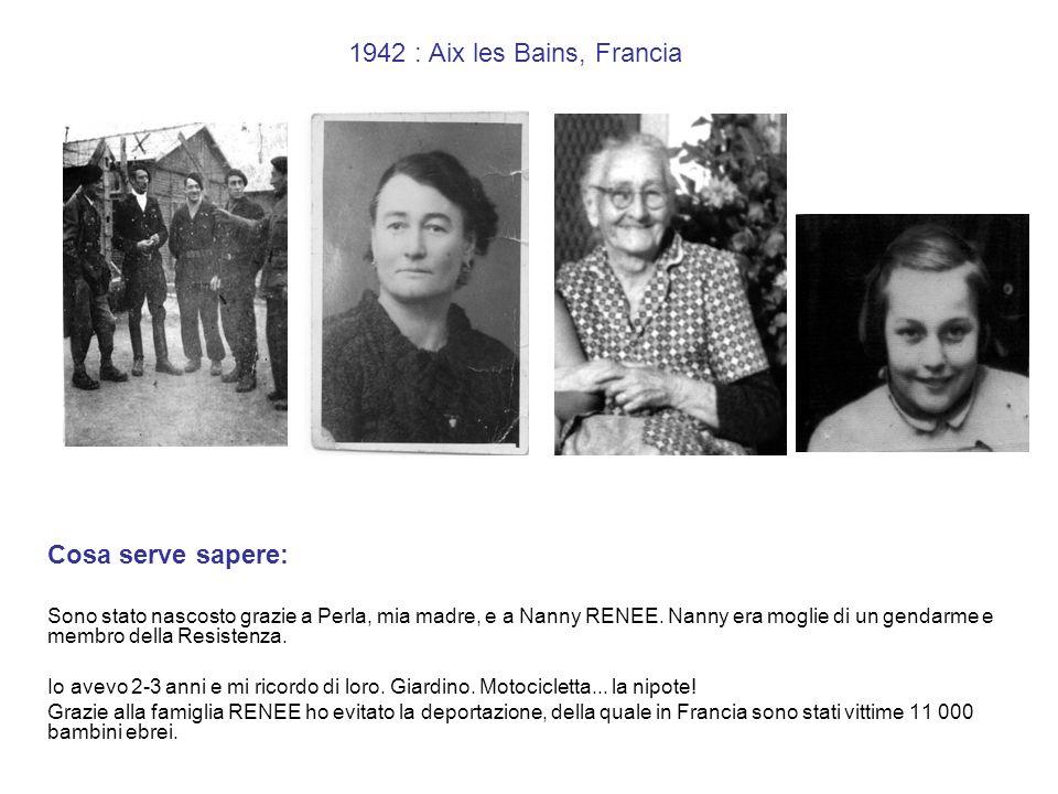 13 giugno1944: Cosa serve sapere: Perla è stata arrestata da Paul TOUVIER, nella sinagoga TILSITT, Lyon, il 13 giugno 1944 (testimone Rosa VOGEL, sopravvissuta, allora tredicenne).