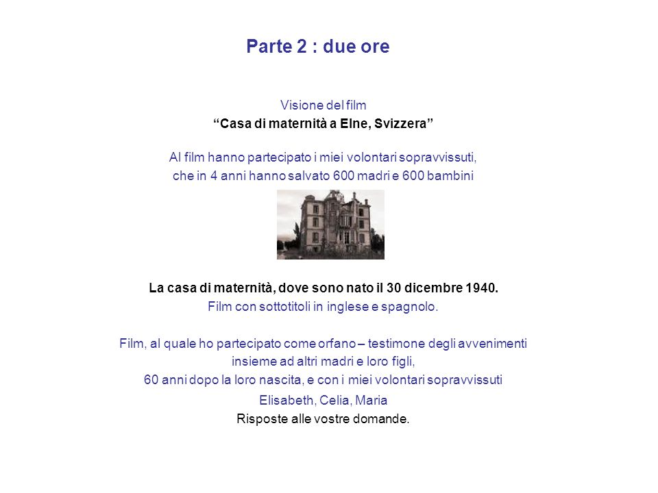 Parte 3 Visione del film Campo di concentramento francese di Rivesaltes Sud della Francia, vicino al confine spagnolo.