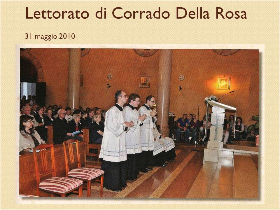 Lettorato di Corrado Della Rosa 31 maggio 2010