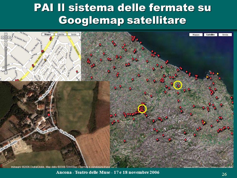 Ancona - Teatro delle Muse - 17 e 18 novembre 2006 25 PAI Il sistema delle fermate nel Piano Attuativo dellIntermodalità