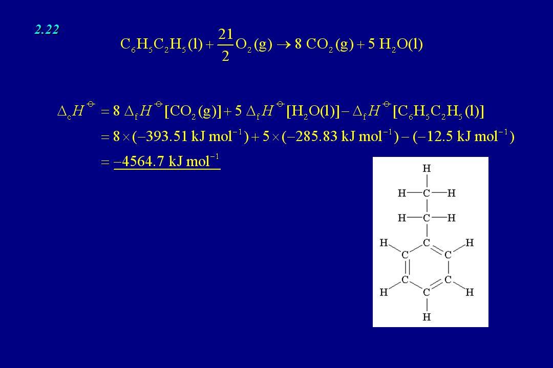 2.26 2.28 q = IVt = 3.20 A × 12.0 V × 27 s = 1.04 × 10 3 J 1 A s = 1 C, 1 C V = 1 J dove M = 180.16 g mol –1 è la massa molare del glucosio ed m la massa del campione.