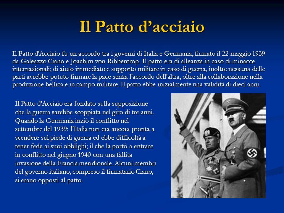 Il Patto Ribbentrop-Molotov La decisione che sorprese tutti fu il patto di non aggressione tra Germania ed Unione Sovietica, due paesi ideologicalmente opposti.
