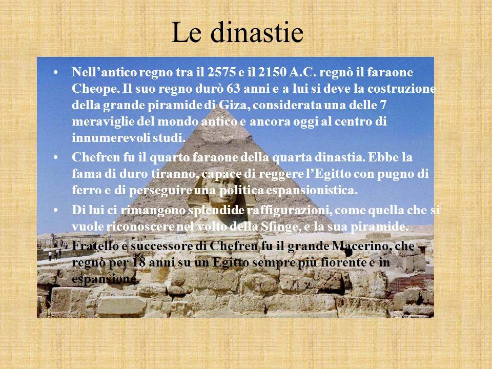 Le dinastie Nellantico regno tra il 2575 e il 2150 A.C.