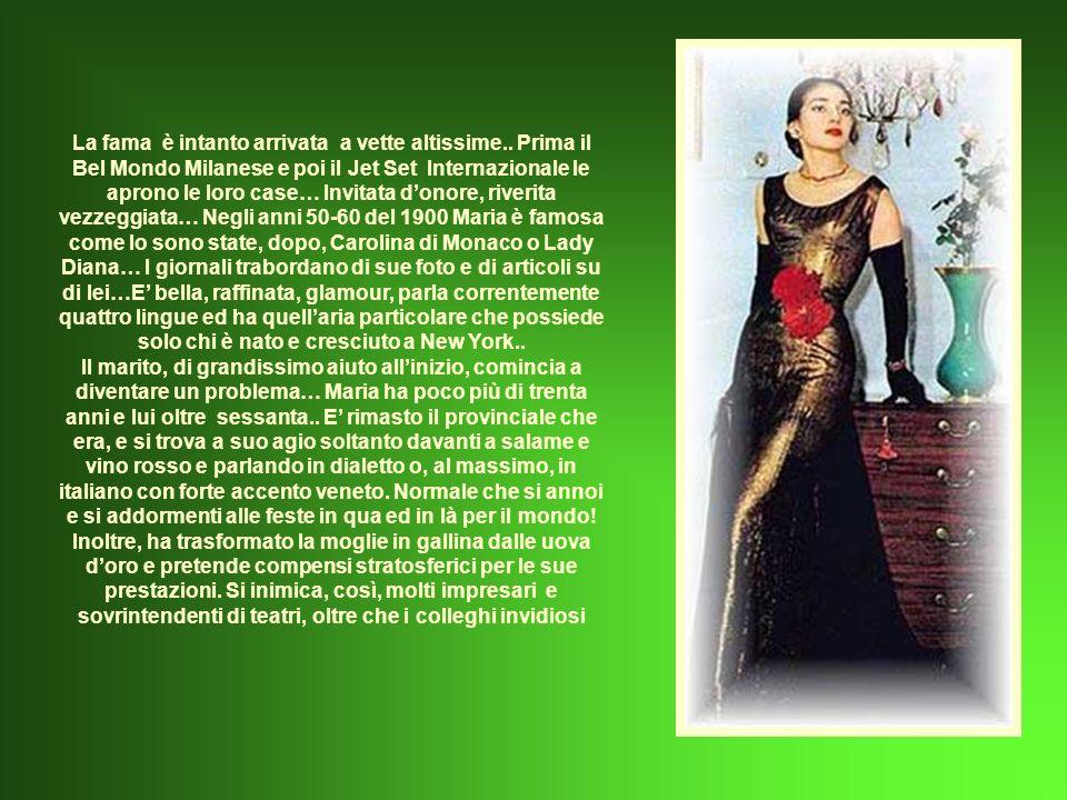 Il massimo della resa artistica viene raggiunto nella metà degli anni 50, quando inizia una strepitosa collaborazione con Luchino Visconti che adora Maria e le insegna ad usare al meglio tutte le capacità interpretative che lei già possiede naturalmente.