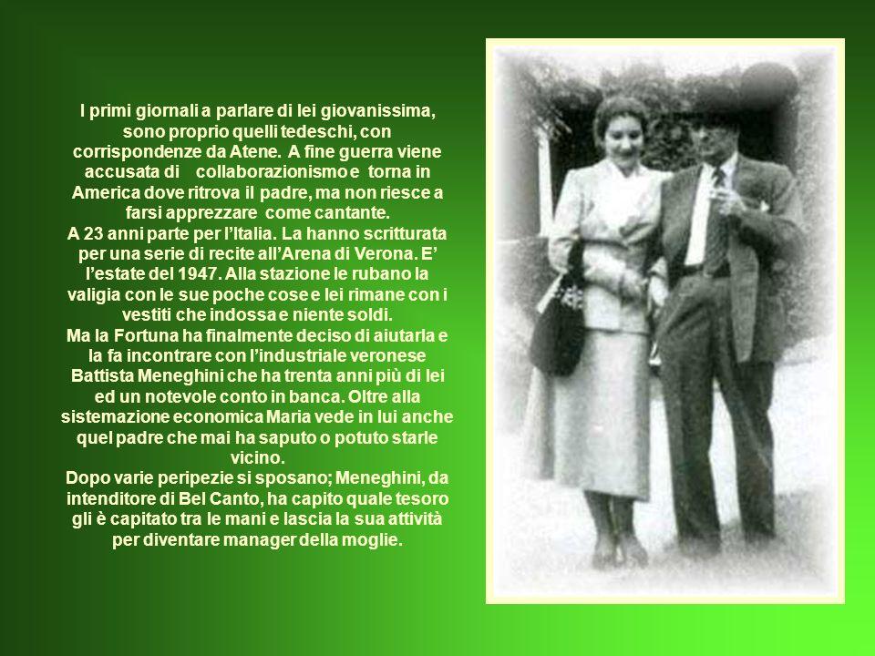 Nasce una profonda amicizia con Pierpaolo Pasolini che la convince ad interpretare il film Medea che però, non per colpa di Maria ma della pesantezza con cui è trattato il tema, pur con scenari, costumi e musiche bellissimi, non viene affatto apprezzato né dal pubblico né della critica.