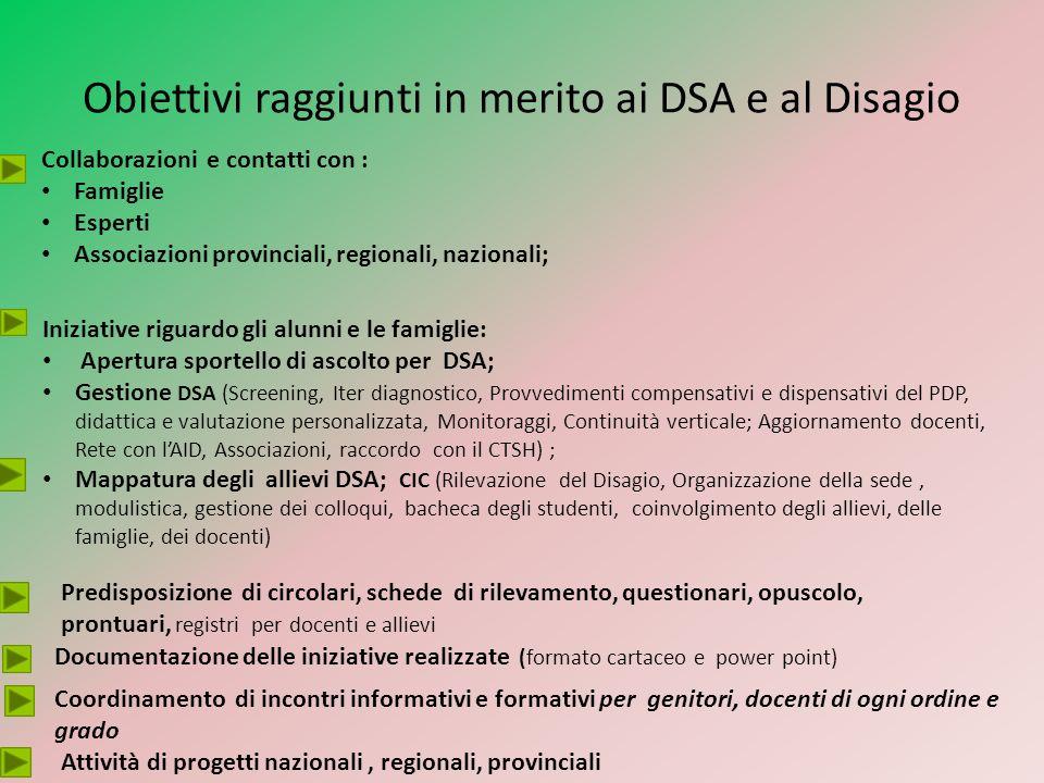 Inizio anno scolastico 2011-2012: Un «solo» caso DSA è protocollato con richiesta di PDP; Fine anno scolastico : sei casi diagnosticati (due in attesa di diagnosi) Ma ancora cè da «portare alla luce»… tanta strada da fare…