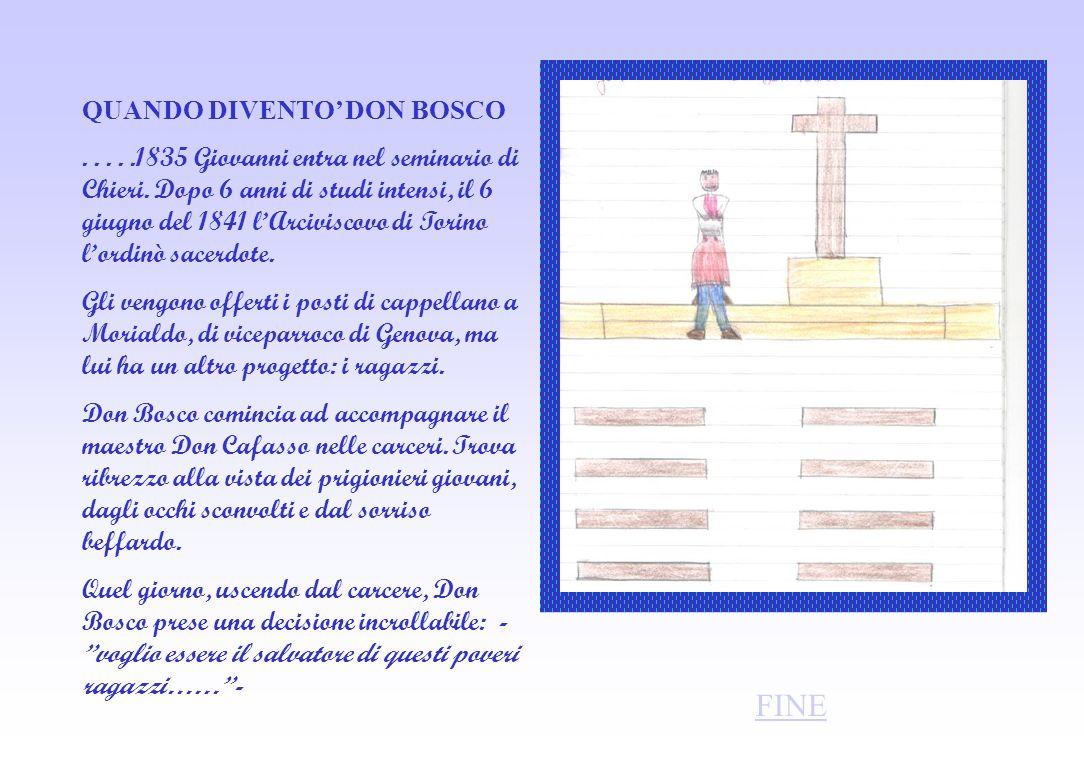 QUANDO DIVENTO DON BOSCO.....1835 Giovanni entra nel seminario di Chieri.