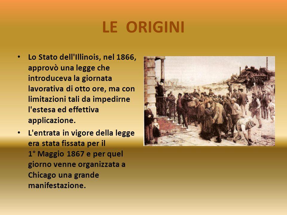 LE ORIGINI Dal congresso della Prima Internazionale, lAssociazione internazionale dei lavoratori riunito a Ginevra nel settembre 1866, scaturì la rich