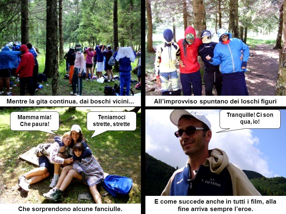 La lunga teoria di escursionisti in marciaArmati di tutto punto verso le alte cime Dove a un certo punto al canto di...le caprette di Heidi Heidi, Hei