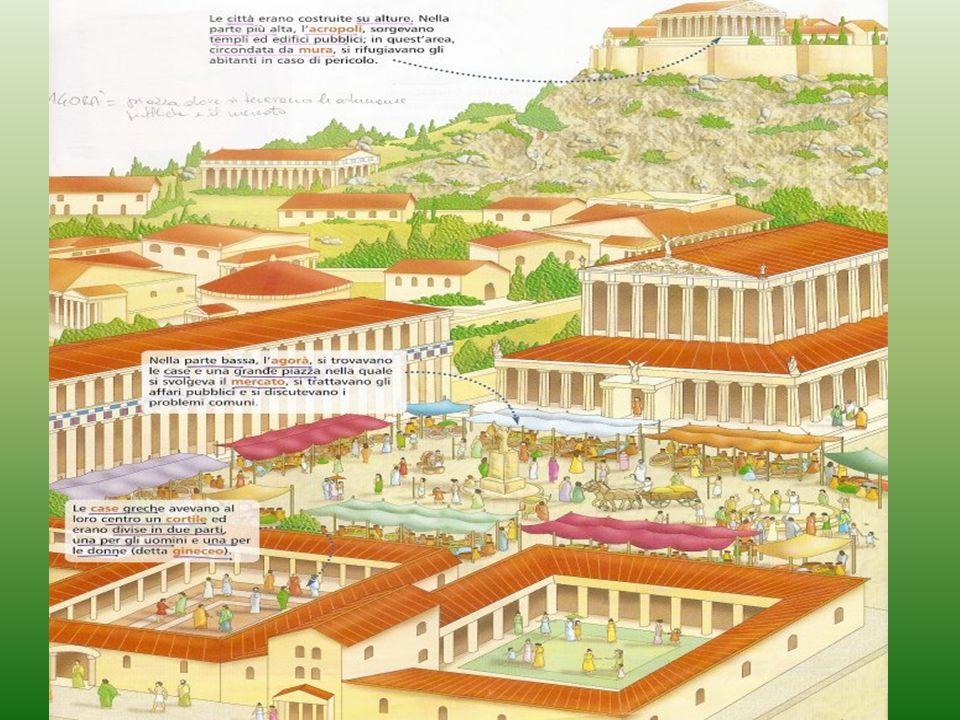 Due modelli di governo La polis era una città di persone.