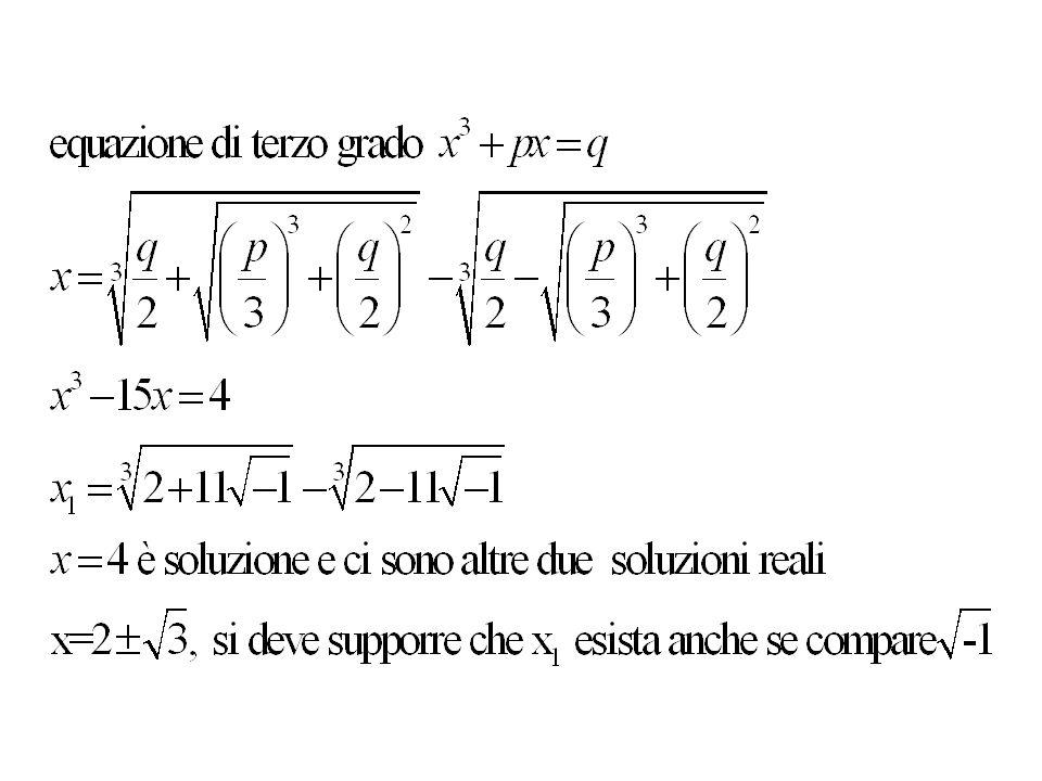 Vogliamo risolvere lequazione F(x) = 0 dove F(x) = 40x 5 – 58x 4 – 5x 3 + 13x 2 – 17x + 3 I divisori di 3 sono: I divisori di 40 sono: Posso usare solo i divisori di 40 positivi Tentiamo: 1, ½, 1/3, ……… Funziona per……, quindi F(x) = ( )G(x) dove G(x) = ………………………………….