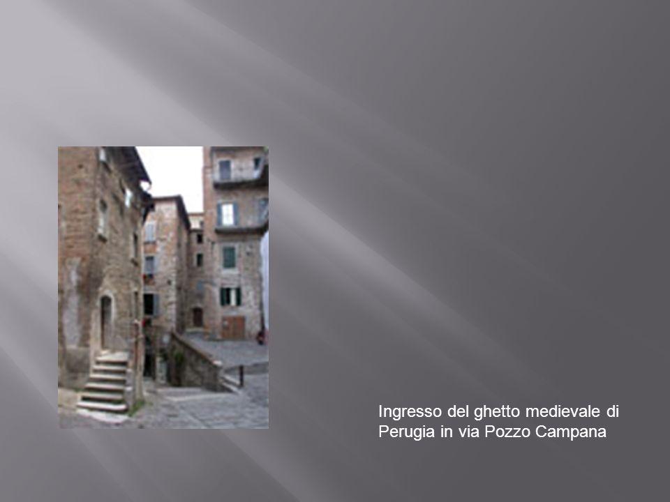 Ingresso del ghetto medievale di Perugia in via Pozzo Campana