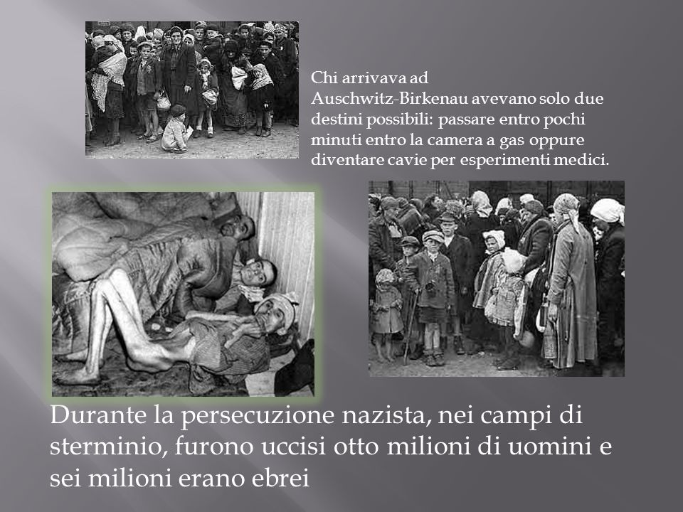Chi arrivava ad Auschwitz-Birkenau avevano solo due destini possibili: passare entro pochi minuti entro la camera a gas oppure diventare cavie per esp