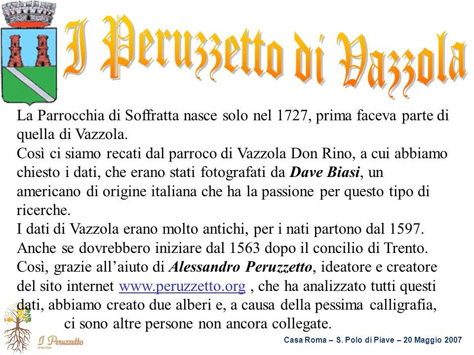 La Parrocchia di Soffratta nasce solo nel 1727, prima faceva parte di quella di Vazzola. Così ci siamo recati dal parroco di Vazzola Don Rino, a cui a