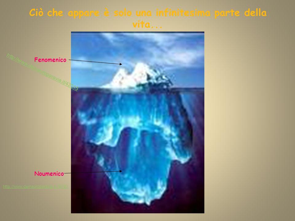 Ciò che appare è solo una infinitesima parte della vita... Fenomenico Noumenico http://www.demauroparavia.it/43015 http://www.demauroparavia.it/74703