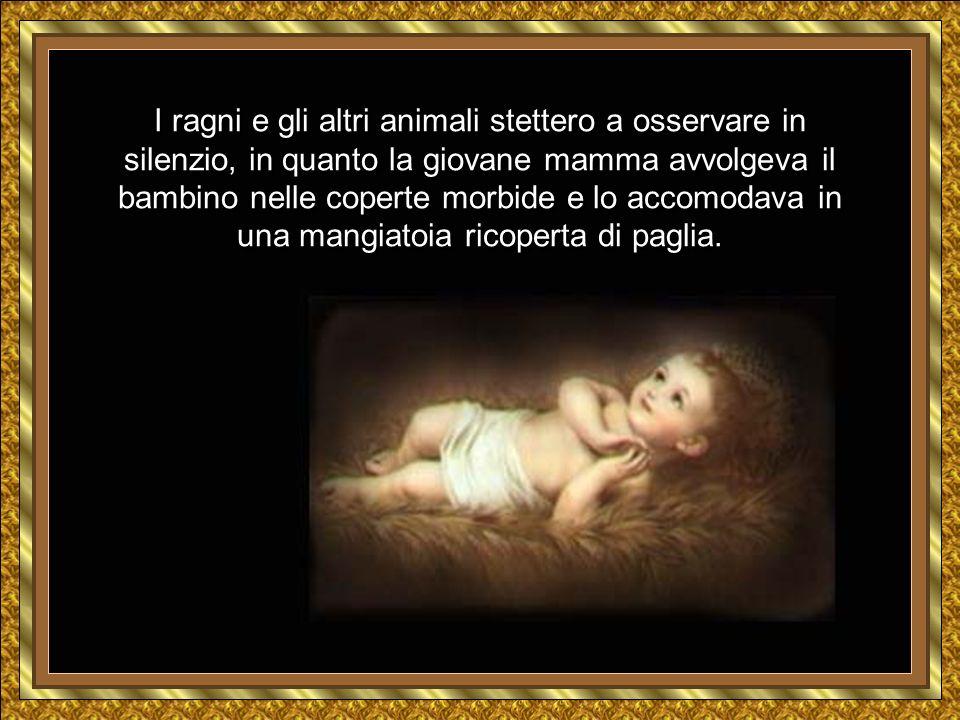 Dopo, Maria mise alla luce un bambino, che chiamò Gesù.