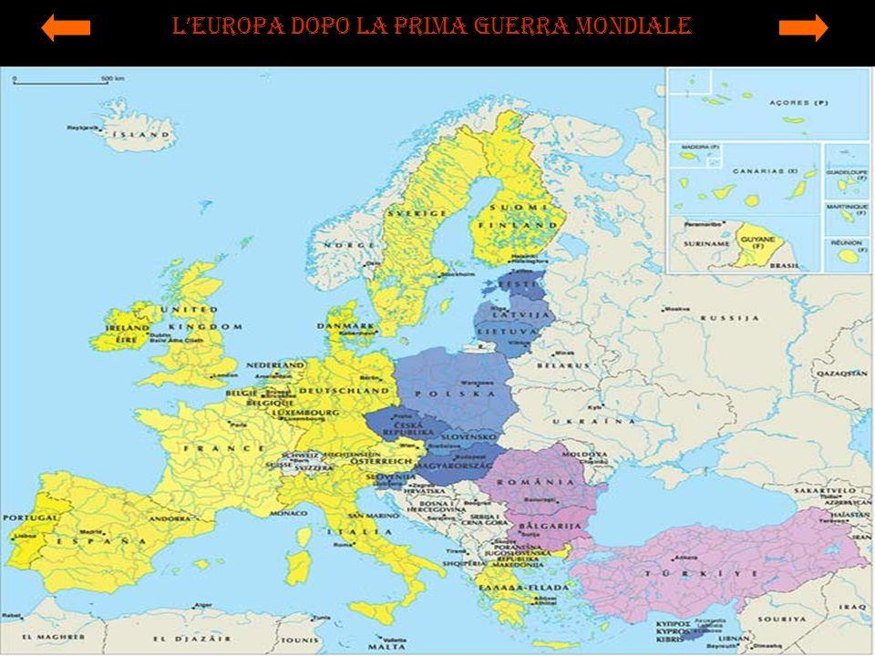 LEuropa dopo la prima guerra mondiale