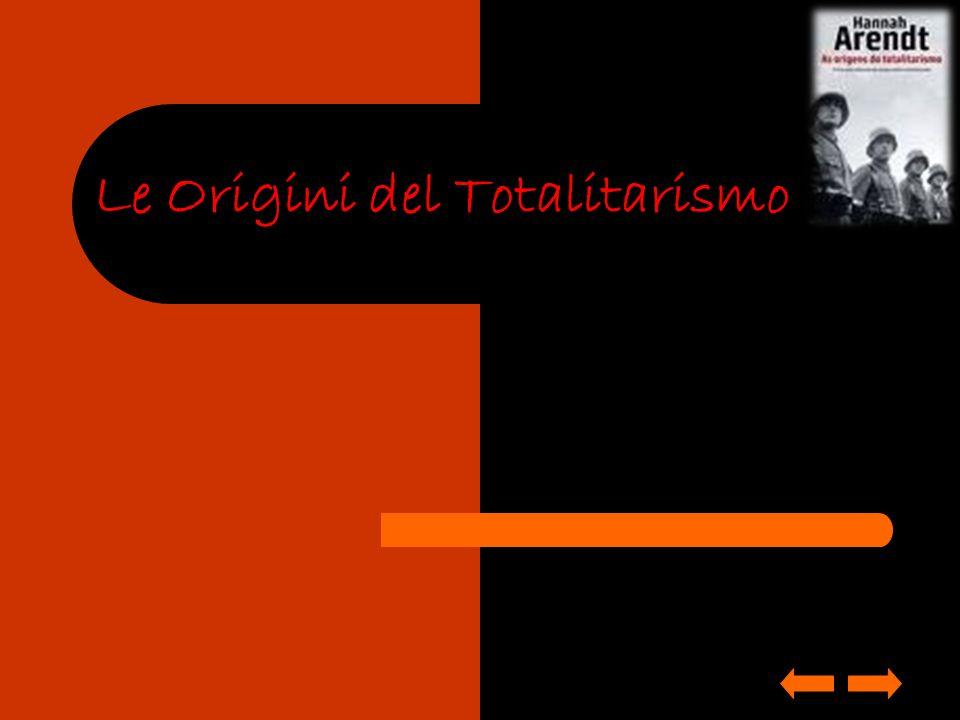 DATA DI PUBBLICAZIONE E TEMATICA Hannah Arendt pubblica The Origins of Totalitarianism nel 1951, in seguito ad un attenta indagine storica e filosofica.