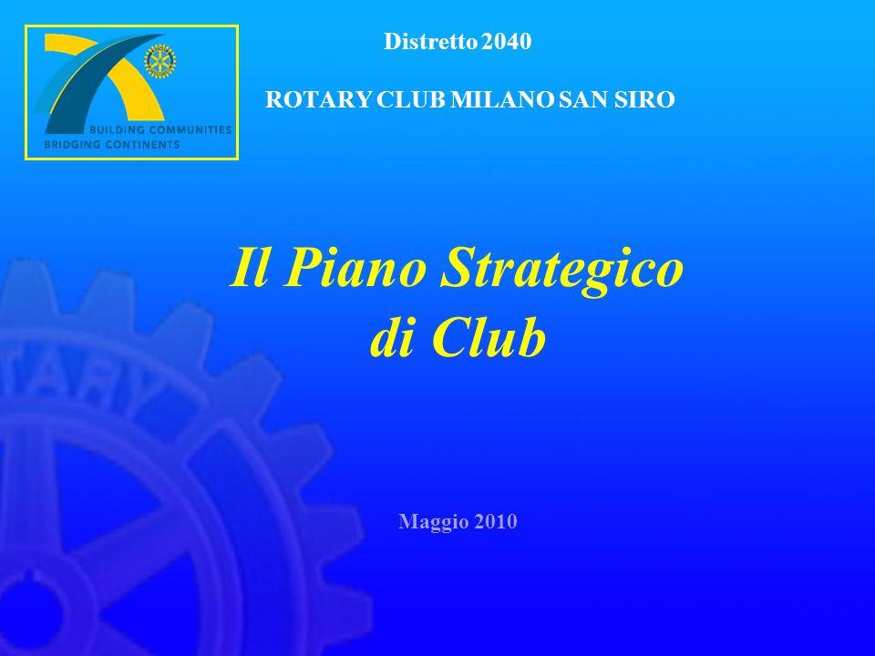 Distretto 2040 ROTARY CLUB MILANO SAN SIRO Il Piano Strategico di Club Maggio 2010