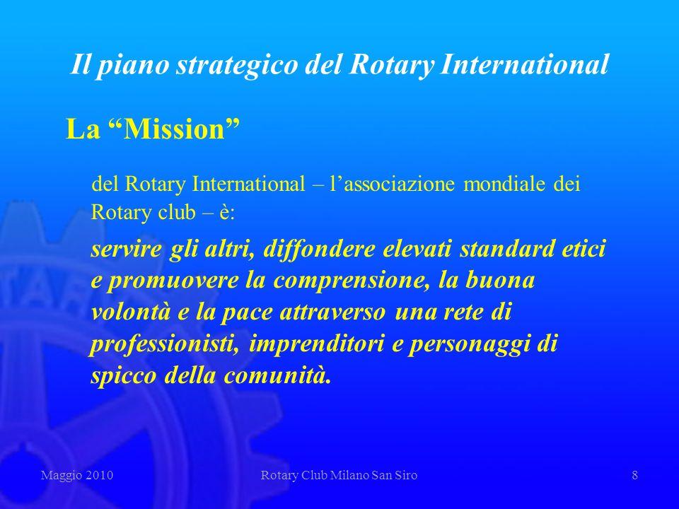 Il piano strategico del Rotary International La Mission del Rotary International – lassociazione mondiale dei Rotary club – è: servire gli altri, diff