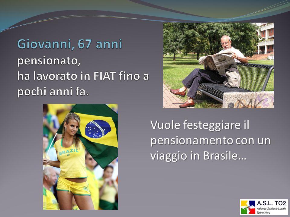 Vuole festeggiare il pensionamento con un viaggio in Brasile…