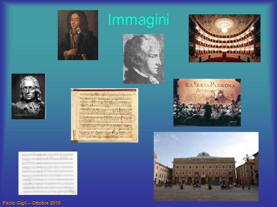 Paolo Gigli – Ottobre 2010 Opere pubblicate in vita (1) 1729, O salutaris hostia, Inno per tenore e basso continuo.